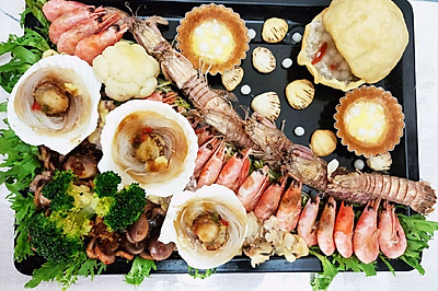海底世界——创意美食,元宵节之酒酿圆子,海鲜大拼盘