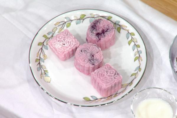 紫薯冰皮月饼的做法