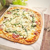 #硬核菜谱制作人#西部乡村披萨全麦版的做法图解11