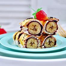 #今天吃什么#香蕉蓝莓吐司卷