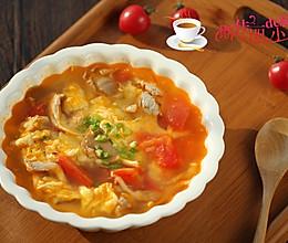 番茄平菇蛋花汤的做法