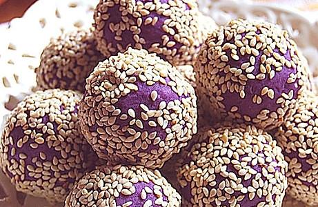 紫薯球的做法