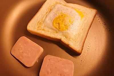 咸蛋黄风味的煎蛋吐司