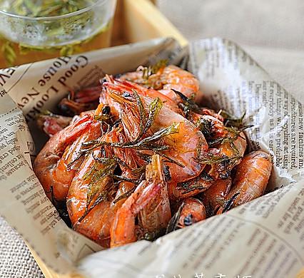 龙井茶香虾