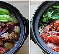 经典广式腊味煲仔   小窍门让米饭飘香的做法图解5