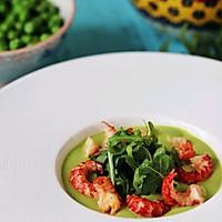 #花10分钟,做一道菜!# 小龙虾豌豆浓汤的做法图解9