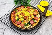 蔬菜火腿披萨的做法