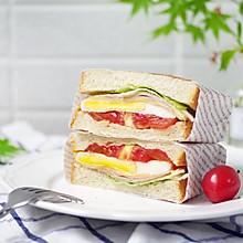#春季减肥,边吃边瘦#全麦口袋三明治