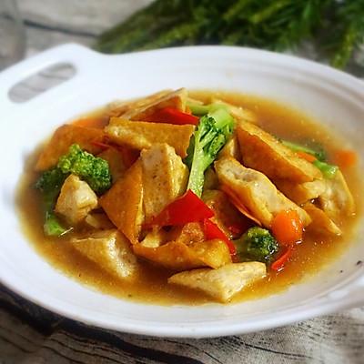 西兰花焖豆腐