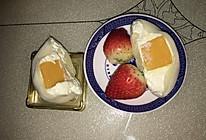 草莓雪媚娘+芒果雪媚娘的做法