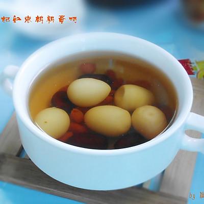 枸杞红枣鹌鹑蛋汤