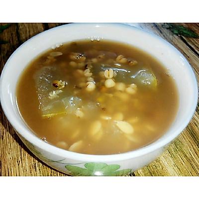 夏季薏米绿豆冬瓜汤