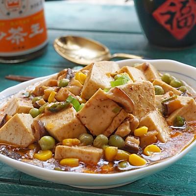 沙茶什锦豆腐(附豆腐炒不散秘诀)