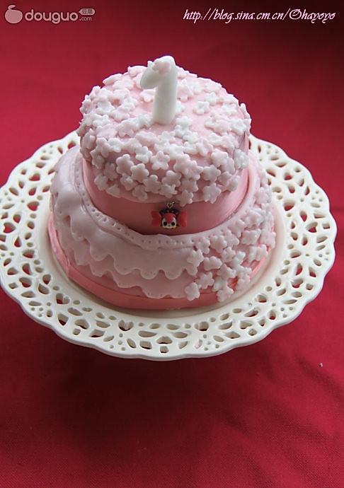 迷你翻糖蛋糕的做法