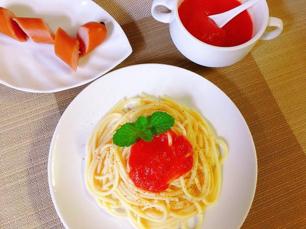 意大利面(自制番茄酱)的做法