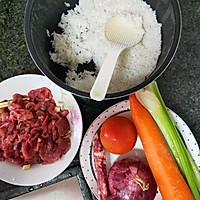 炒牛肉饭的做法图解1
