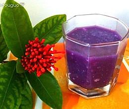 奶香紫薯羹的做法