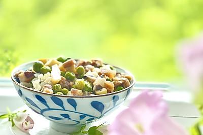 春笋豌豆咸肉糯米饭