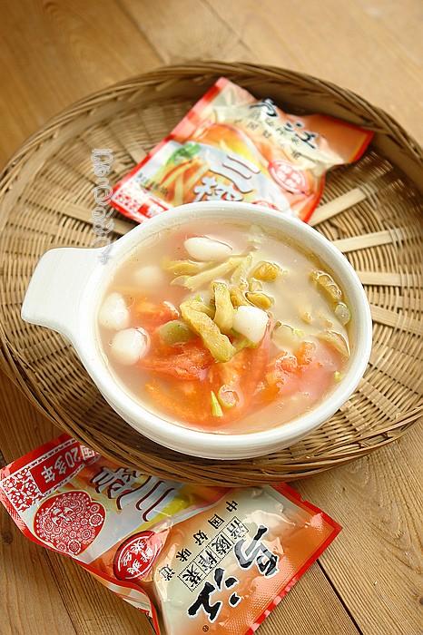 榨菜汤圆的做法