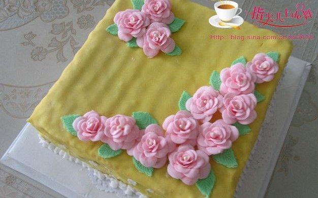 换个方式做翻糖花---翻糖蛋糕(七)---桃花盛开