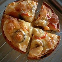 火腿肠披萨和棉花糖披萨