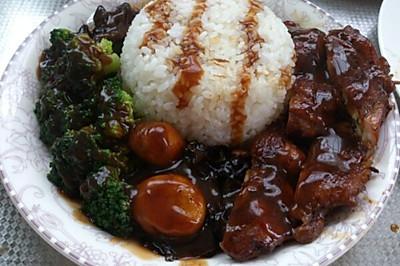 照烧鸡腿饭(or酱油鸡腿饭)