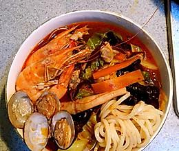 韩式海鲜面짬뽕的做法