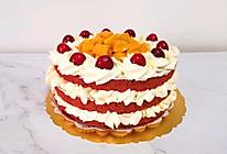 #全电厨王料理挑战赛热力开战!#红丝绒水果裸蛋糕的做法