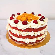 #全电厨王料理挑战赛热力开战!#红丝绒水果裸蛋糕