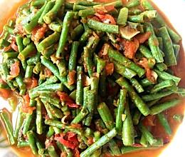 番茄炒豇豆的做法