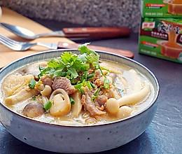 鲜菇杂菌浓汤的做法