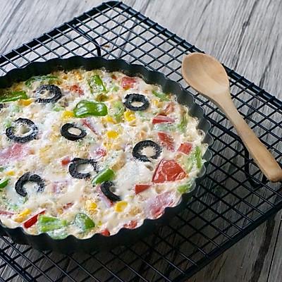 杂蔬蛋白饼