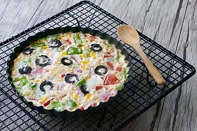 杂蔬蛋白饼#松下烤箱菜谱#