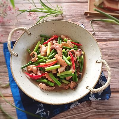 八代鱼炒蒜苔