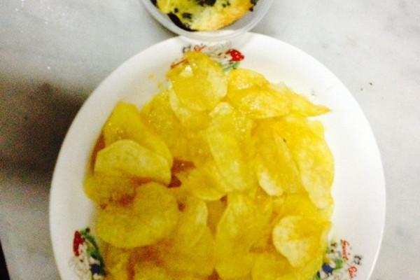 原味炸薯片(紫菜薯片)的做法