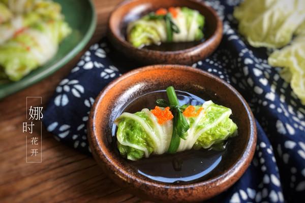 碧玉白菜卷·养生菜的做法