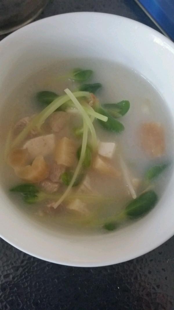 养生豆苗扇贝汤的做法