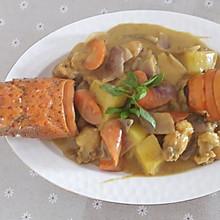 白兰地咖喱焗龙虾