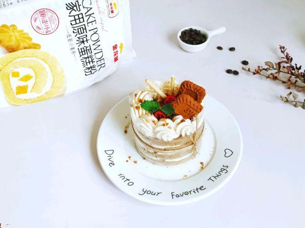 我的焦糖摩卡蛋糕来啦!金龙鱼烘焙大赛你也来参加吧!的做法