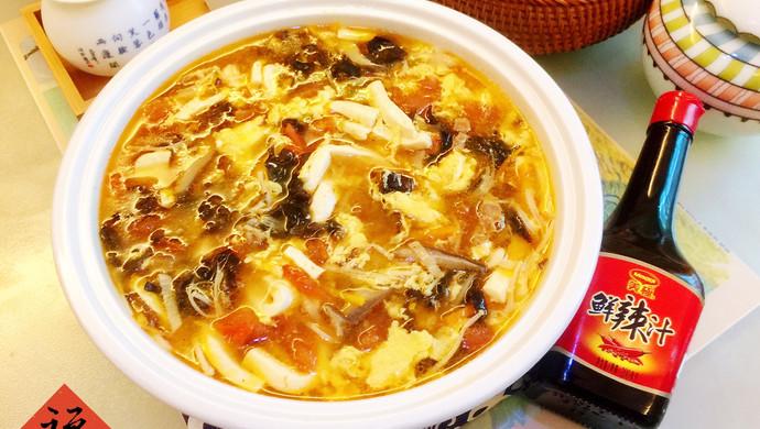 暖心暖胃,减脂消食-家常酸辣汤
