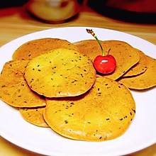 葱香芝麻薄脆饼(无糖全蛋不打发)
