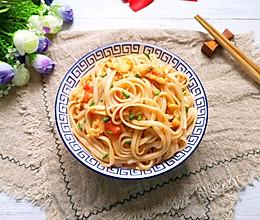 #下饭红烧菜#西红柿鸡蛋拌面的做法