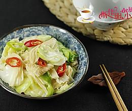 油豆皮炒圆白菜的做法
