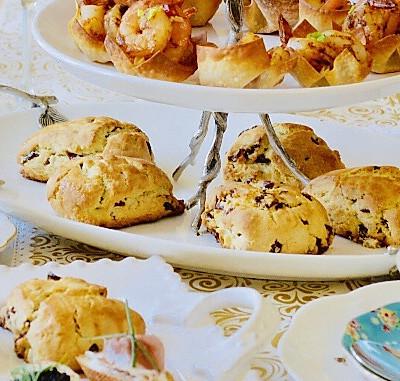 英式下午茶之4: 蔓越莓司康饼