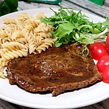 #cook100调料食谱#牛排意面套餐