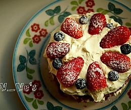 红丝绒裸蛋糕~6寸戚风蛋糕胚的做法