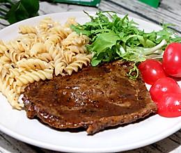 #cook100调料食谱#牛排意面套餐的做法
