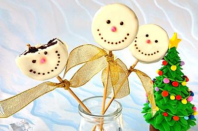 圣诞节奥利奥棒棒糖饼干