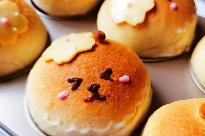 紫薯奶酪小熊面包