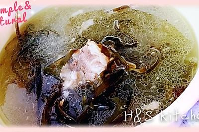 <懒人汤>清炖海带排骨汤